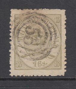 Denmark Sc 15 used 1864 16s Royal Emblems, F-VF appearing