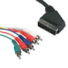 1.5 m - 5 Rca Componente Ypbpr a SCART cable de video de plomo