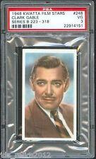 1948 Kwatta Film Stars Card #248 CLARK GABLE Gone With The Wind PSA 3 Rare!!