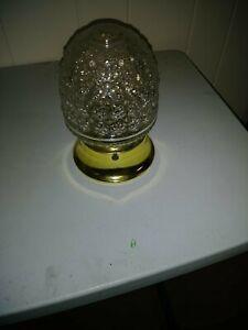 Antique light fixture globe