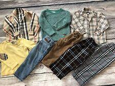 Burberry Sz 2-3 Check Denim Pants Corduroy T Shirt Button Down Sweater Boys Xmas