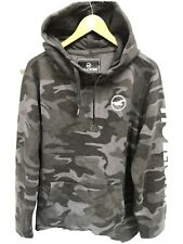 Mens Hollister California  Hoodie Camougflage Sweatshirt Sports Jumper Top XL