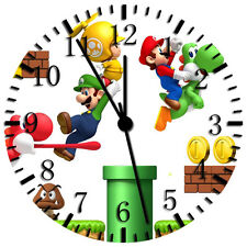 "Super Mario Games wall Clock 10"" will be nice Gift and Room wall Decor X09"
