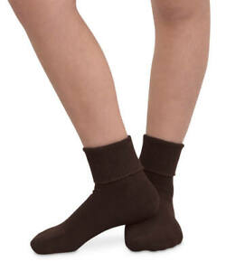 Jefferies Socks Womens Organic Seamless Cotton Turn Cuff Socks 6 Pair Pack