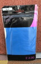 Atmosphere Mid Blue Opaque Fashion Tights, S/M, UK Size 8-14, BNWT