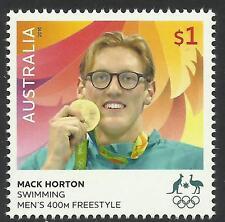 AUSTRALIA 2016 MACK HORTON RIO OLYMPIC GAMES Swimming GOLD MEDAL Single 1v MNH
