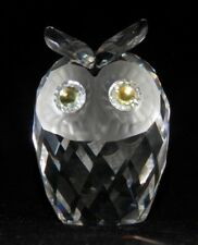 New ListingSwarovski Large Owl Figurine w/ Green Peridot Eyes (010022)