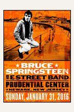 The BOSS: Bruce Springsteen at  Newark, New Jersey Concert Poster 2016 12x18