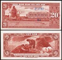 20 DONG 1962 SUD VIETNAM / SOUTH VIET NAM [SPL / AU] P6a almost unc
