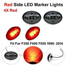 4X Black Smoked Red Side Marker Fender Dually Bed Lights 12V For Ford F350 99-10