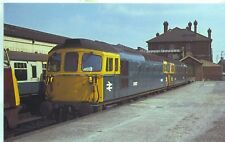 Diesel locomotive Class 33 D6527 Salisbury 1968 unused OPC postcard