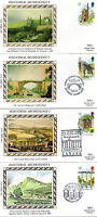 4 JULY 1989 INDUSTRIAL ARCHAEOLOGY SET ALL 4 BENHAM SMALL SILK FIRST DAY COVER a