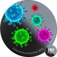 $12 Off Coupon Rep Chad MUTATION COVI-19 CORON VIRUS Silver coin 2020 Proof 1 oz