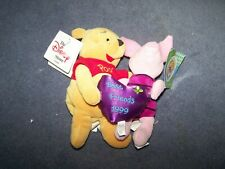 Winnie the Pooh and Piglet Best Friends 1999 - Disney Store - Mini Bean Bag Set