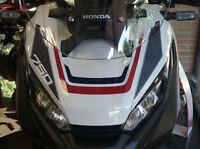 ADESIVI in RESINA GEL 3D compatibili MUSO FRONTALE scooter Xadv HONDA X-ADV 750