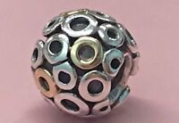 PANDORA | 14K GOLD SILVER OH CHARM 790325 *NEW* RETIRED RARE AUTHENTIC OH! O 925