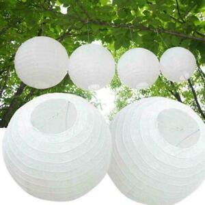 25Cm White Round Chinese Paper Lantern Birthday Party Supplie Holiday N3X8 Q0W7