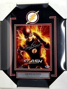 """GRANT GUSTIN Signed Autographed """"The FLASH"""" 8x10 Photo Beckett BAS Framed"""