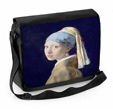 Johannes Vermeer Ragazza con orecchino di perla Laptop Messenger Bag