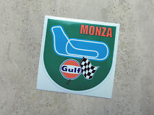 Gulf Monza racing circuit sticker 75 mm  - Gulf Licensed Merchandise