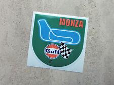 Etiqueta engomada de circuito del Golfo Monza Racing 75 Mm-Con Licencia Oficial