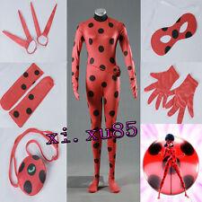 Hot Miraculous Ladybug Marinette Cosplay Jumpsuit +Mask+Bag+Gloves+Socks Costume