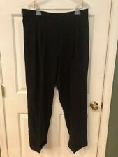 PRONTI MEN'S BLACK PLEATED DRESS PANTS SIZE 36/34