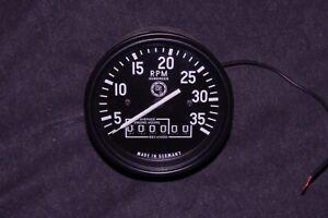 VDO Diesel Hourmeter Tachometer Tach 24V for Generator Detroit Volvo Penta Gauge