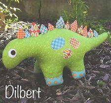 DILBERT DINASAUR - Sewing Craft PATTERN - Soft Toy Felt Doll Bear Rabbit
