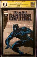 MARVEL Comics BLACK PANTHER #1 CGC SS 9.8 Original Art Sketch AVENGERS ENDGAME