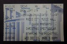 THE ROCKETTES CHRISTMAS SPECTACULAR Ticket Stub - Radio City Music Hall - 2000