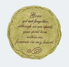 "GONE YET NOT FORGOTTEN Memorial Garden Stepping Stone, 9.5"" by Spoontiques"