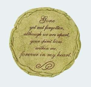 """GONE YET NOT FORGOTTEN Memorial Garden Stepping Stone, 9.5"""" by Spoontiques"""