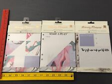 American Crafts MEMORY PLANNER 3 Journal Planner Inserts NEW SIP Friends Plans