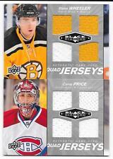 2010-11 Black Diamond Quad Jerseys Blake Wheeler, QJ-BW, 2 colors, Bruins, Jets