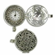 Sterling Silver Gift Marcasite fob watch