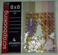 8x8 Scrapbook Kit Wedding Theme NIP(Paper, borders, corners, alphabet, stickers)