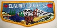 OLD MERGED OA ELAUWIT LODGE 37 HUDSON-HAMILTON SCOUT PATCH BEAR YEL SERVICE FLAP