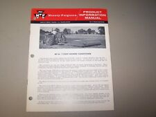 1960's MF 61 7 FOOT MOWER CONDITIONER MASSEY FERGUSON PRODUCT INFORMATION MANUAL