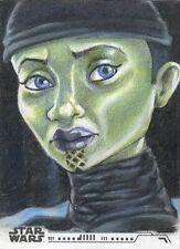 2020 Topps Women Of Star Wars Luminara Unduli Sketch Card By Ashley Villers NEW!