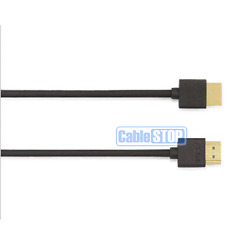2m ULTRA SLIM HDMI LEAD FULL HD TV PS3 SKY DVD FLEXIBLE THIN ETHERNET CABLE