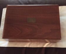 Vintage Decatur Walnut Wood Humidor CIGAR BOX