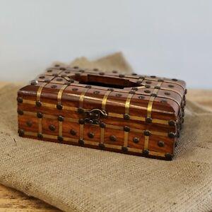 Hand Carved, Tissue box ,Case / Napkin Holder / Velvet Interior Hand Crafted