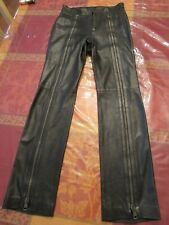 TOM FORD FOR GUCCI Double Zipper Leather Runway Pants Size 40 US 4 Small