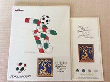 RARA PIASTRELLA CERAMICA SMALTATA MONDIALI CALCIO ITALIA 1990 MASCOTTE CIAO