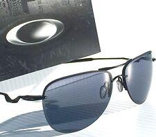 NEW* OAKLEY TAILPIN Aviator Matte BLACK Satin frame w Grey lens Sunglass 4086-01