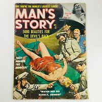 Man's Story Magazine September 1960 5000 Beauties For The Devil's Rack, No Label