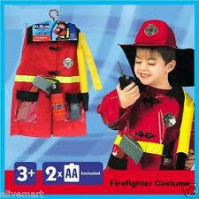 Children's Firefighter Suit Halloween Party Fireman Costume Uniform Kids gift