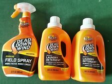 NEW Dead Down Wind 2 Laundry Detergent 36 oz & 1 Field Spray 32 oz Unscented Lot