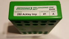 80428 REDDING 280 ACKLEY IMPROVED 2 DIE SET - BRAND NEW - FREE SHIPPING